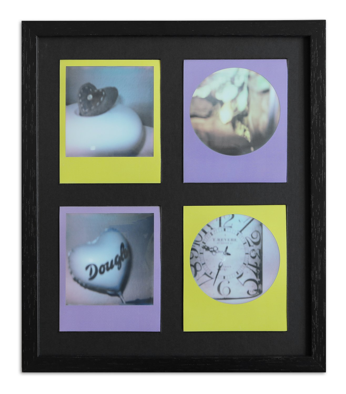 Polaroid Bilderrahmen A850 Schwarz, gemasert 24,6 x 28,4 Normalgl ...