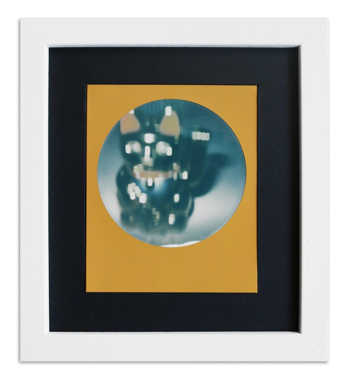 Rahmen A850 Weiß, gemasert 13,8 x 15,7 Normalglas inkl. Passepartout ...