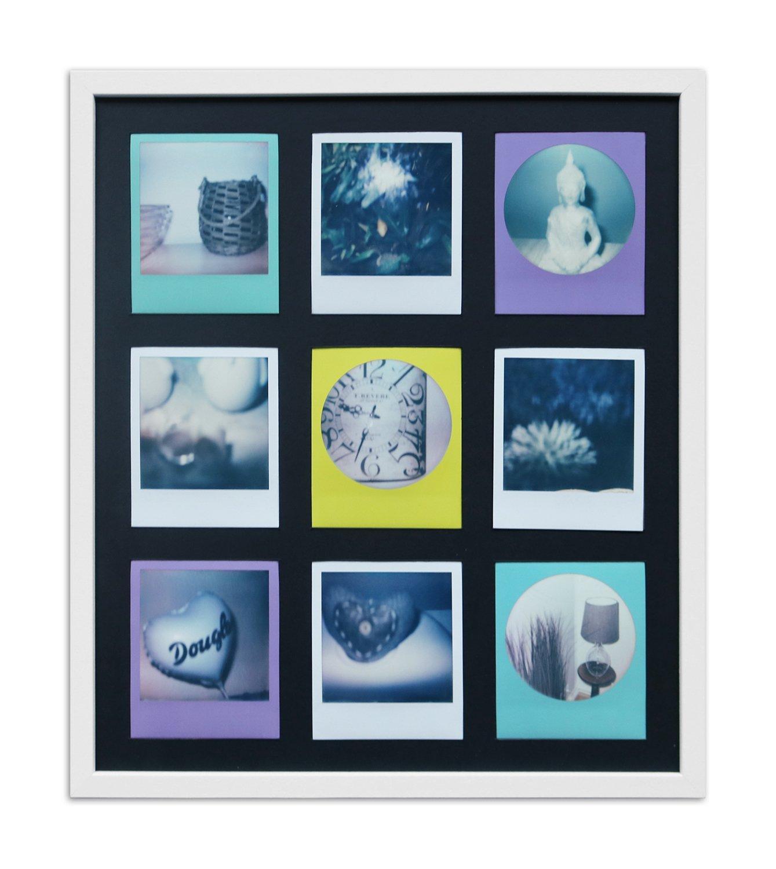 Polaroid Bilderrahmen A850 Weiß, gemasert 35,4 x 41,1 Normalglas ...
